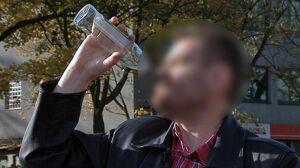 Wypił duszkiem butelkę wódki zaraz po kolizji