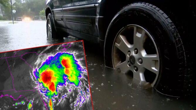 Dziwna burza tropikalna w USA