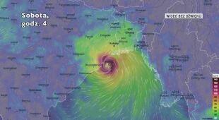 Droga cyklonu Bulbul w kierunku Bangladeszu