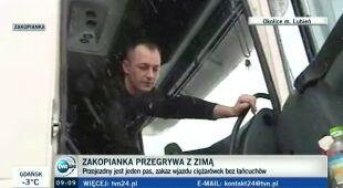 Kierowcy tirów żalą się na służby drogowe (TVN24)
