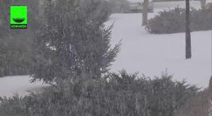Miejscami śnieg pada intensywnie